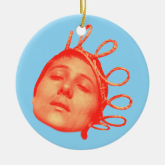 jeanne of arc ceramic ornament