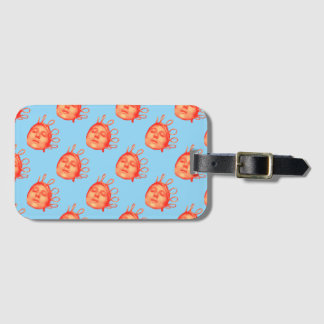 jeanne of arc luggage tag
