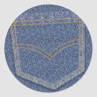 Jeans2 Classic Round Sticker