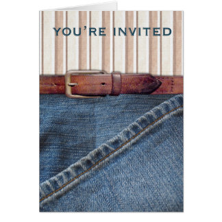 Jeans and Stripes Invitation