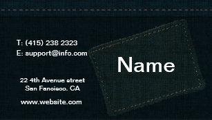 Designer jeans business cards profile cards zazzle ca jeans business card design reheart Image collections
