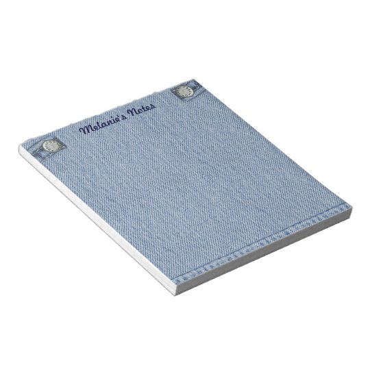 Jeans Notepad with your Name