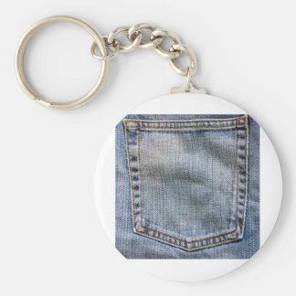 jeans pocket basic round button keychain