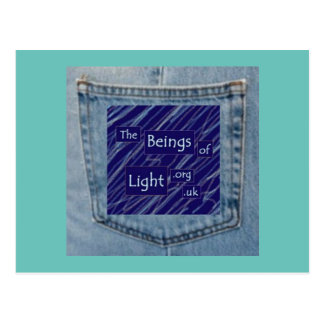 Jeans Pocket Beings of Light Fun Design Postcard