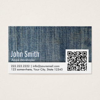 Jeans QR Code Apps developer Business Card