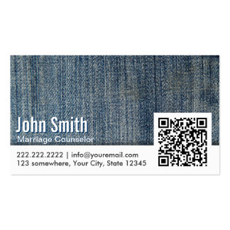 Jeans QR Code Marriage Counseling Business Card