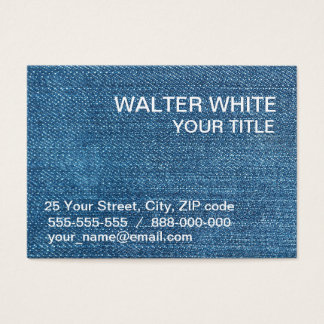 Jeans texture business card