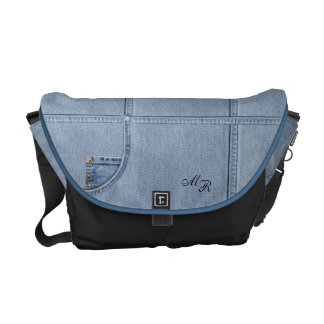 Jeans with (or without) Monogram Courier Bags