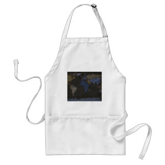 Jeans World Map (No labels) Standard Apron