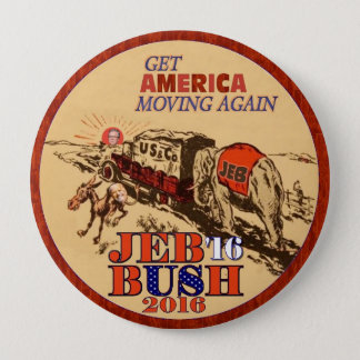 Jeb Bush 2016 4 Inch Round Button