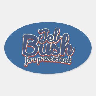 Jeb Bush 2016 Oval Sticker