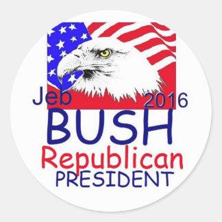 Jeb BUSH 2016 Round Sticker