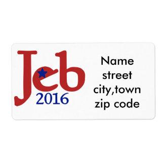 JEB bush 2016 Shipping Label