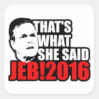Jeb Bush 2016 Square Sticker