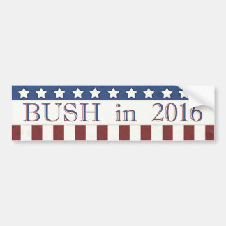 Jeb Bush 2016 Stars and Stripes Bumper Sticker