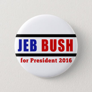 Jeb Bush for President in 2016 2 Inch Round Button