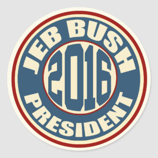 Jeb Bush for President in 2016 Round Sticker