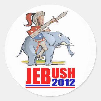 Jeb Bush for Prez 2012 Round Sticker