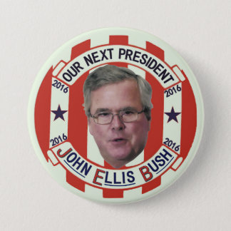 Jeb Bush President 2016 3 Inch Round Button