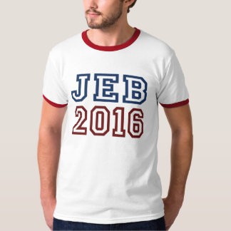 Jeb Bush President 2016 Athletic Font T-Shirt