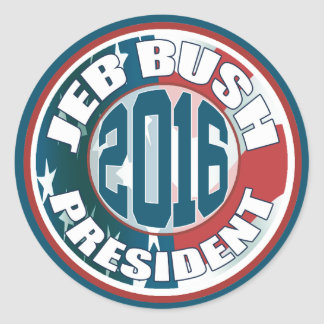 Jeb Bush President  2016 Round Sticker