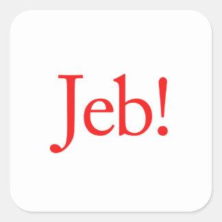 Jeb Bush Presidential Candidate 2016 Square Sticker