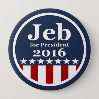 Jeb for President 2016 Campaign Buttons