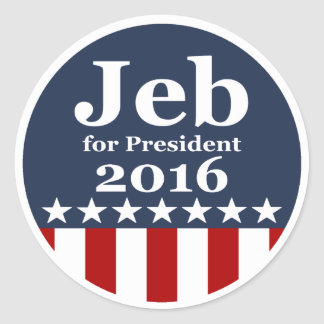 Jeb for President 2016 Campaign Stickers