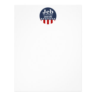 Jeb for President 2016 Customized Letterhead