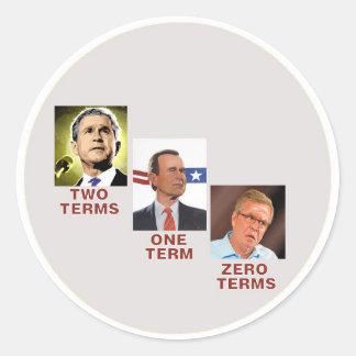 Jeb: Zero Terms Round Sticker