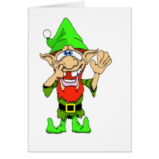 Jed Elf tordu Carte De Vœux
