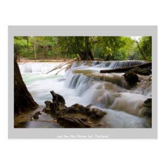 Jed Sao Noi Water fall Thailand. Postcard