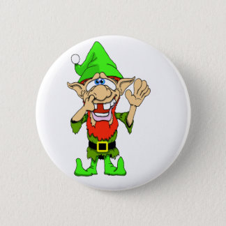 Jed the Twisted Elf 2 Inch Round Button