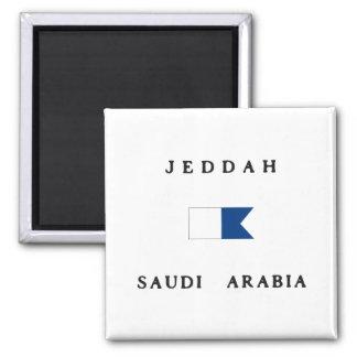 Jeddah Saudi Arabia Alpha Dive Flag Magnet