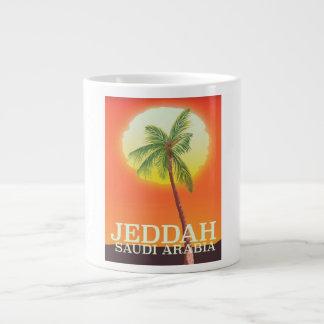 Jeddah Saudi Arabia Vacation poster Large Coffee Mug