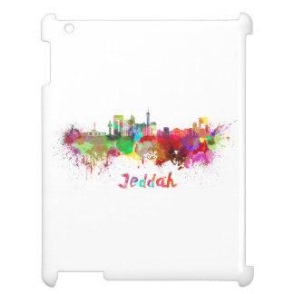 Jeddah skyline in watercolor case for the iPad