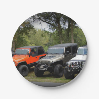 Jeep Club Paper Plate