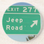 Jeep Road Sign Coasters