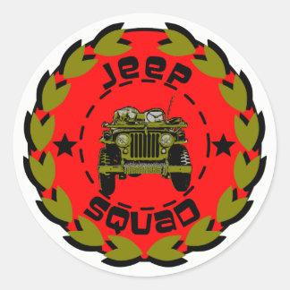 Jeep squad classic round sticker