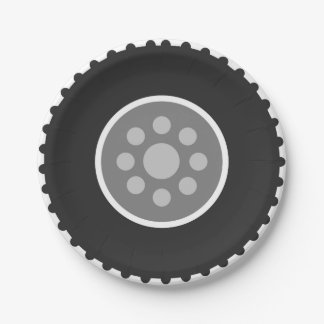 Jeep Tire Small Paper Plate