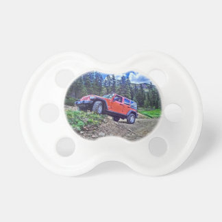 Jeep Wrangler adventure scene baby pacifier