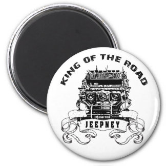 Jeepney 2 Inch Round Magnet