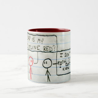 Jeff is Red Two-Tone Coffee Mug