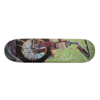 "Jeff Oehmen ""Trike with Text"" Skateboard Deck"