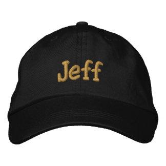 Jeff Personalized Baseball Cap / Hat