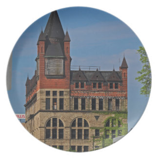 Jefferson and Ontario-vertical Dinner Plate