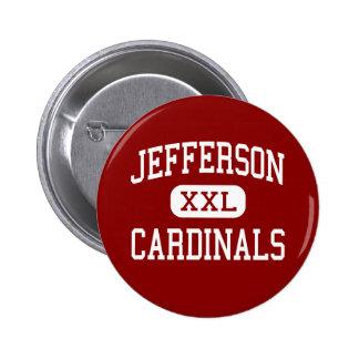 Jefferson - Cardinals - High - Alexandria 2 Inch Round Button