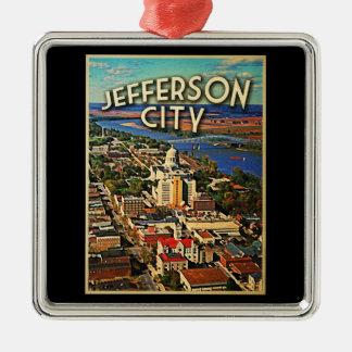 Jefferson City Missouri Metal Ornament