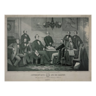 Jefferson Davis and cabinet in Richmond Capitol Poster