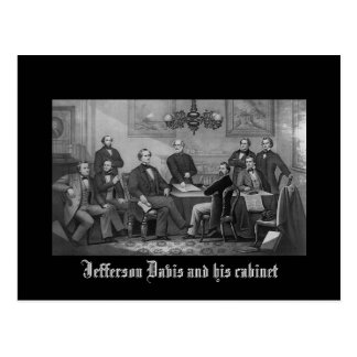 Jefferson Davis and his cabinet Postcard